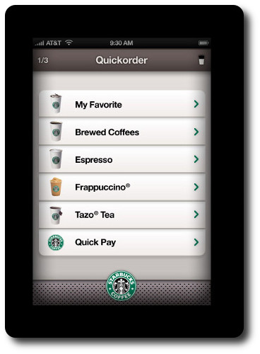 application Starbucks coffee pour Iphone