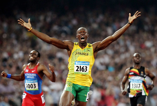 thé vert glacé pour Usain Bolt