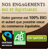 100% Bio et qutant que possible issu du commerce équitable