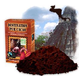 chocolat en poudre bio equitable cacao pur sans sucre 250g pur. Black Bedroom Furniture Sets. Home Design Ideas