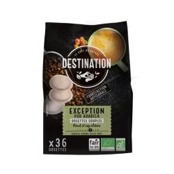 Dosettes Souples Café Bio Equitable - Exception 100% Arabica x 36